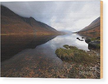 Scottish Highlands Wood Prints