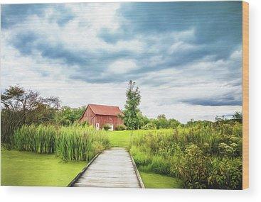 Rural Bridge Wood Prints