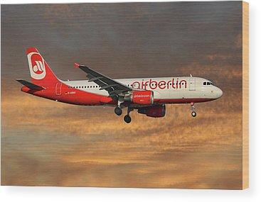 Air Berlin Wood Prints