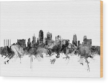 Kansas City Skyline Wood Prints