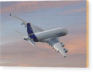 Airbus A380 Wood Prints