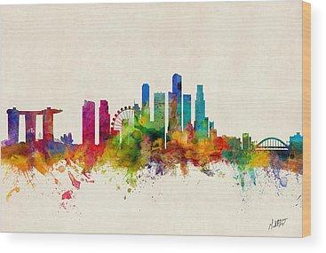 Singapore Wood Prints