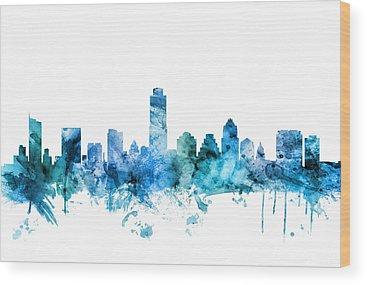 Austin Skyline Wood Prints