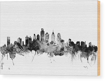 Philadelphia Skyline Wood Prints