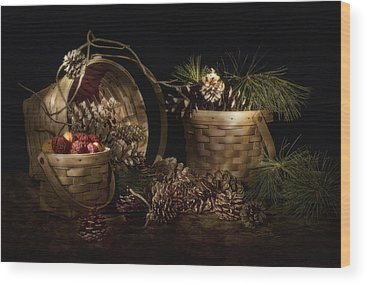 Pine Needles Wood Prints