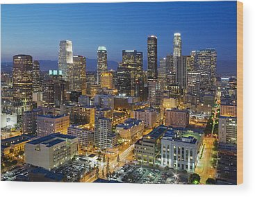 Los Angeles Wood Prints