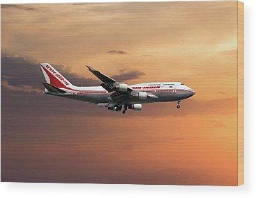 Boeing 747 Wood Prints