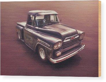 Classic Chevy Truck Wood Prints