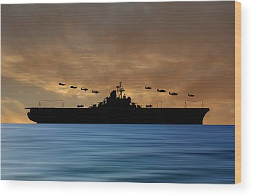 Warship Wood Prints