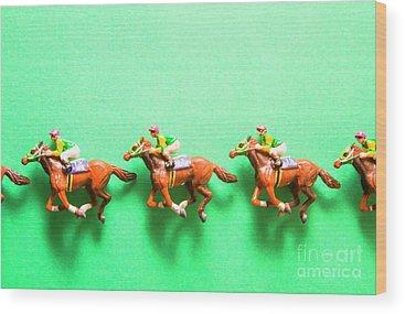 Racehorse Wood Prints