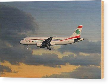 Airbus A320-214 Wood Prints