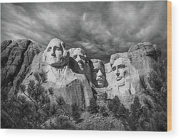 Mount Rushmore Wood Prints