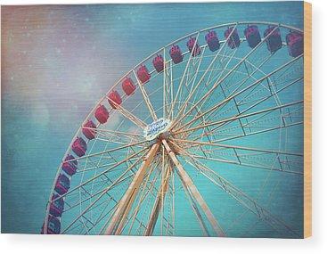 Spinning Wheels Wood Prints