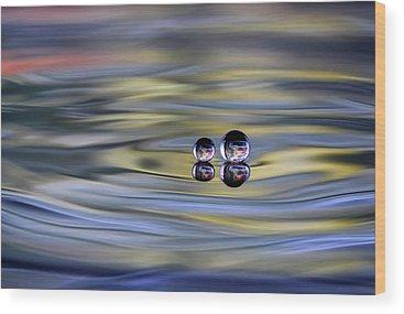 Water Drop Wood Prints