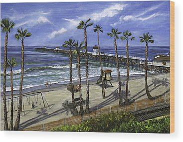 San Clemente Beach Wood Prints