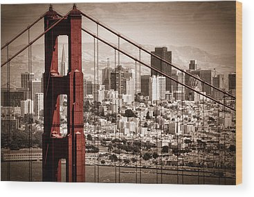 Golden Gate Bridge Wood Prints
