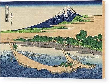 Thirty-six Views Of Mount Fuji Wood Prints