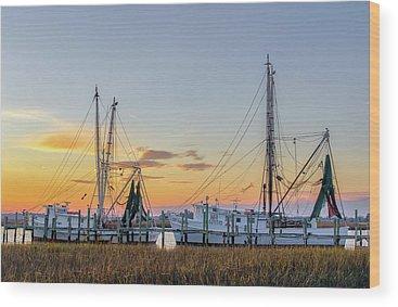 South Dock Wood Prints