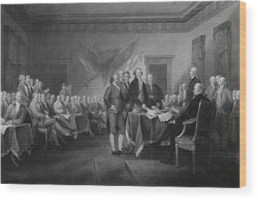 Declaration Of Independence Wood Prints