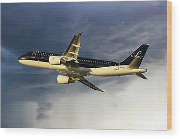 Airbus A320 Wood Prints