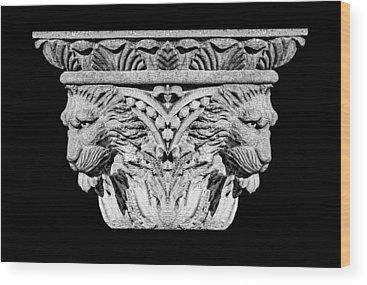 Lion Statue Wood Prints