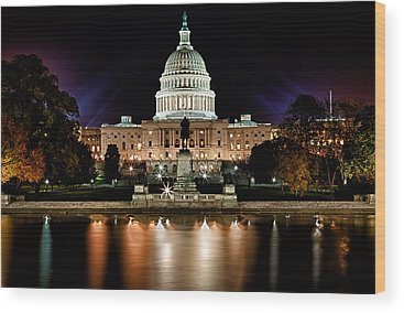 Capitol Building Photographs Wood Prints