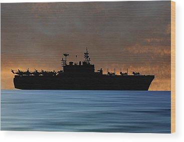 Amphibious Assault Ship Wood Prints