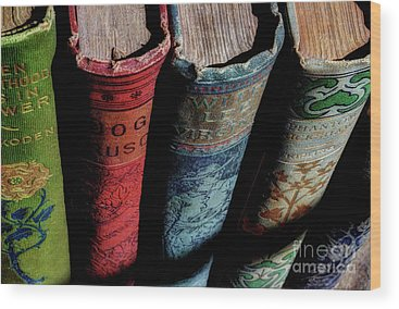 Vintage Books Wood Prints