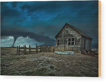 Storm Cell Wood Prints