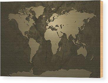 Gold Wood Prints