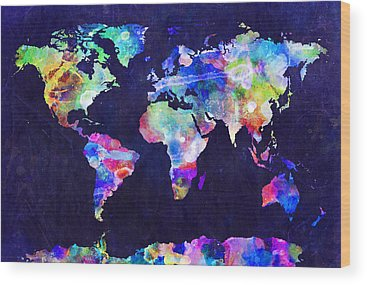 Countries Of The World Wood Prints