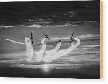 Aerobatics Wood Prints