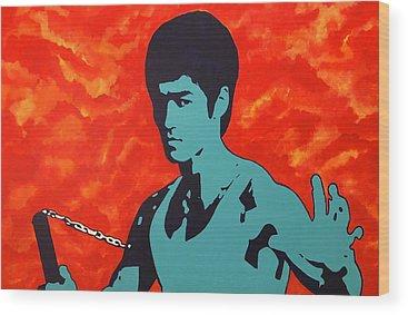 Bruce Lee Wood Prints