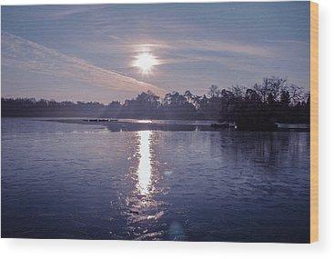 Frozen Lake Wood Prints