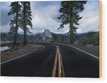 Yosemite Half Dome Wood Prints