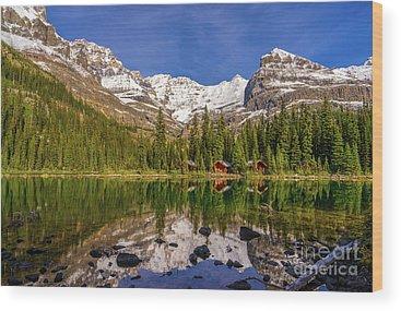 Vermillion Lakes Wood Prints