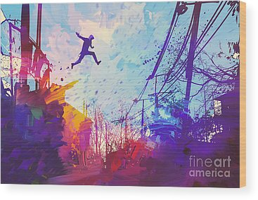 Jumping Wood Prints
