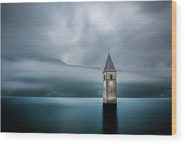 Water Tower Wood Prints