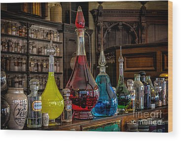 Medicine Bottles Wood Prints