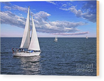 Sailing Wood Prints