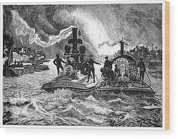 Fireboat Wood Prints