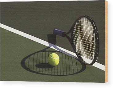 Tennis Wood Prints