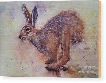 Brown Hare Wood Prints