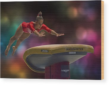 Gymnast Wood Prints