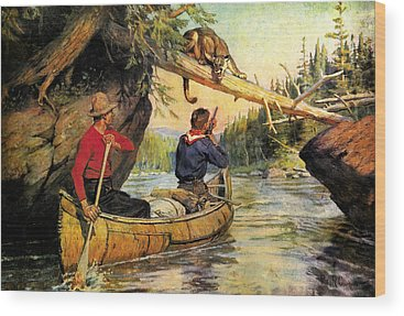 Canoes Wood Prints