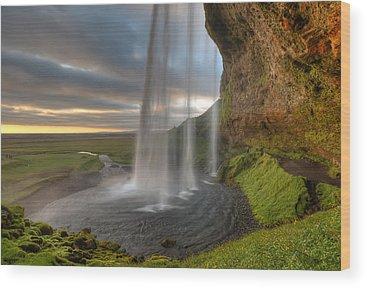 Waterfalls Wood Prints