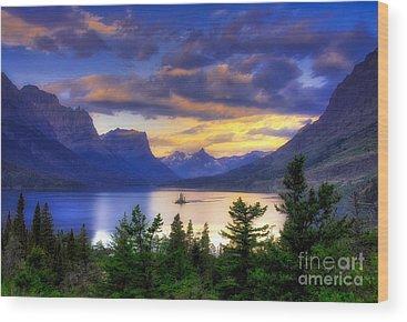 Glacier National Park Wood Prints