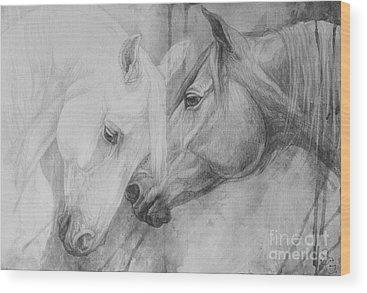 Black Horse Wood Prints