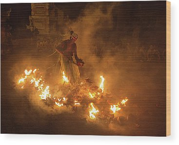 Fire Dance Wood Prints