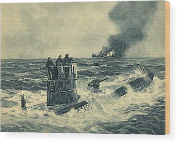 Battle Of The Atlantic Wood Prints